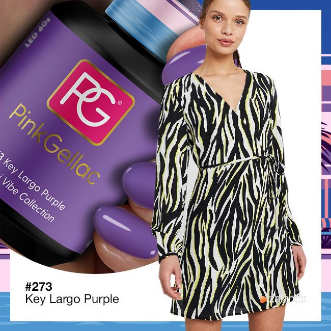 273 Key Largo Purple UV Nagellack Pink Gellac