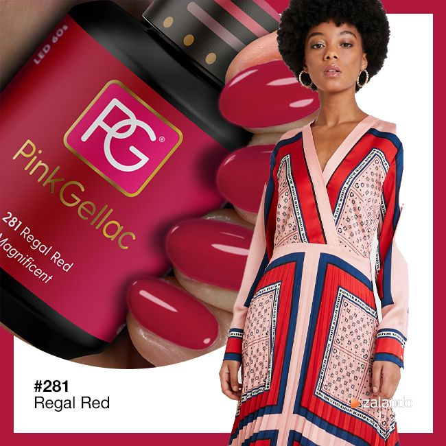 281 Regal Red UV Nagellack Pink Gellac