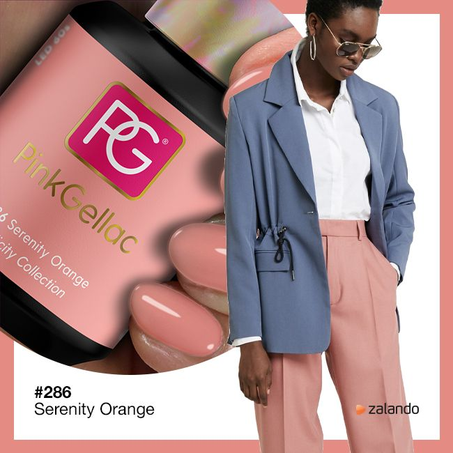 286 Serenity Orange UV Nagellack Pink Gellac