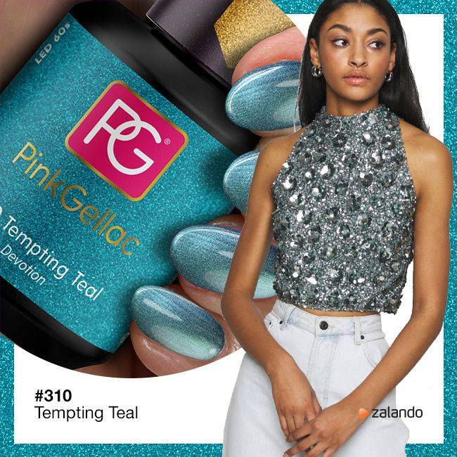 Pink Gellac 310 Tempting Teal