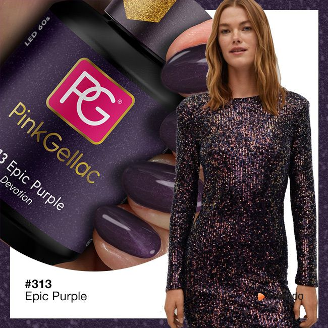 313 Epic Purple UV Nagellack Pink Gellac