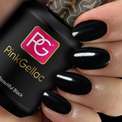 120 Beautiful Black UV Nagellack Pink Gellac