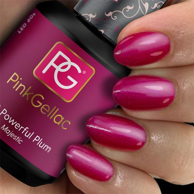 Pink Gellac 170 Powerful Plum Gel-Lack Muster