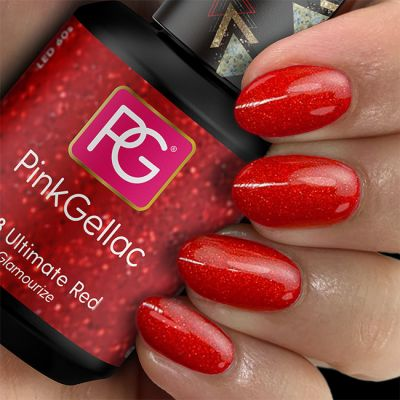 Pink Gellac UV Nagellack  178 Ultimate Red