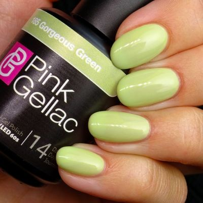 185 Gorgeous Green UV Nagellack Pink Gellac