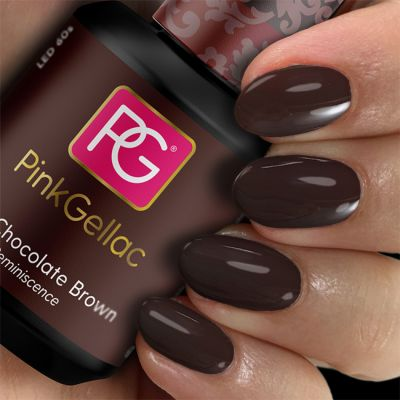 203 Chocolate Brown UV Nagellack Pink Gellac