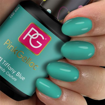 211 Tiffany Blue UV Nagellack Pink Gellac
