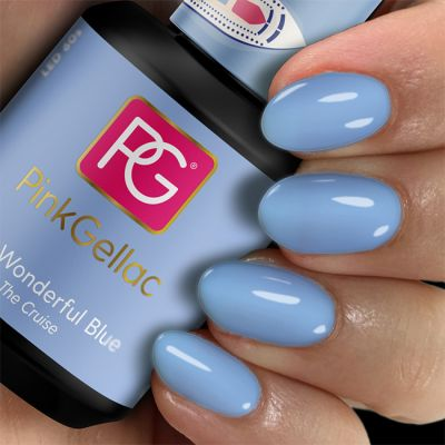 217 Wonderful Blue UV Nagellack  Pink Gellac