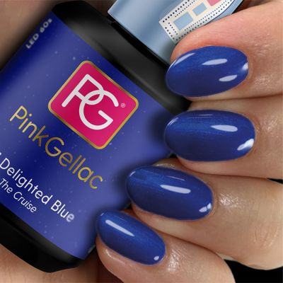 221 Delighted Blue UV Nagellack Pink Gellac