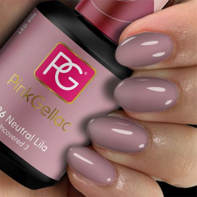 Pink Gellac Gel-Lack 226 Neutral Lila Muster