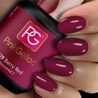 Pink Gellac Gel-Lack 229 Berry Red Muster