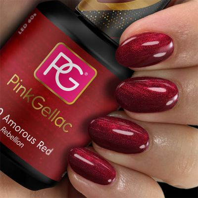 Pink Gellac Gel-Lack 230 Amorous Red Swatch