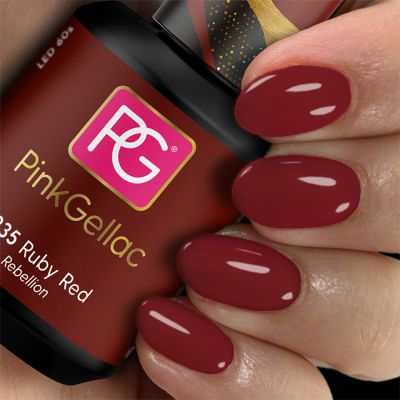 Pink Gellac Gel-Lack 235 Ruby Red Swatch