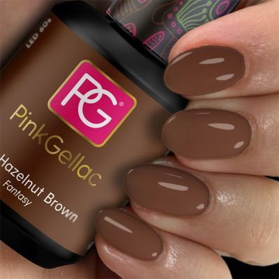 259 Hazelnut Brown UV Nagellack Pink Gellac
