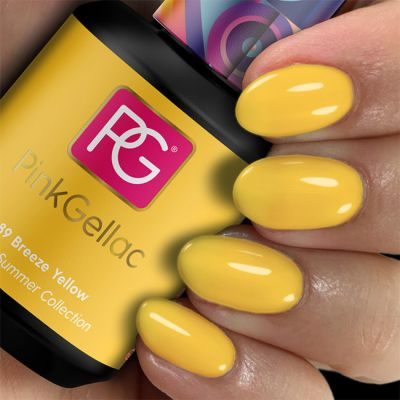 289 Breeze Yellow UV Nagellack Pink Gellac