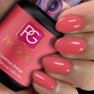 290 Sunblaze Orange UV Nagellack Pink Gellac