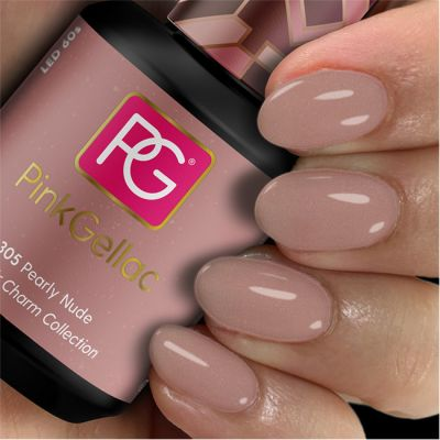 305 Pearly Nude UV Nagellack Pink Gellac