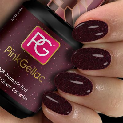 308 Dramatic Red UV Nagellack Pink Gellac