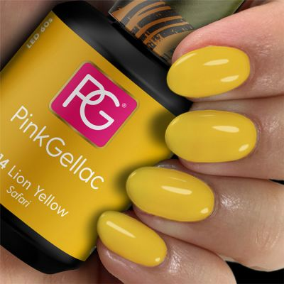 314 Lion Yellow UV Nagellack Pink Gellac