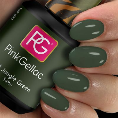 316 Jungle Green UV Nagellack Pink Gellac