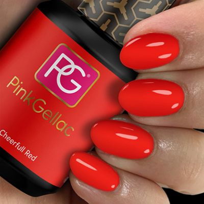 107 Cheerfull Red UV Nagellack Pink Gellac