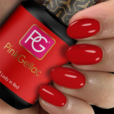 108 Lady in Red UV Nagellack Pink Gellac