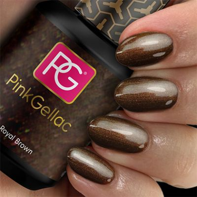 114 Royal Brown UV Nagellack Pink Gellac