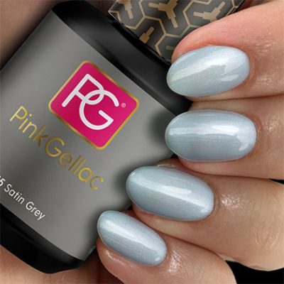 155 Satin Grey UV Nagellack Pink Gellac