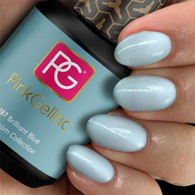 187 Brilliant Blue UV Nagellack Pink Gellac
