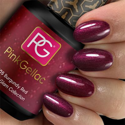 205 Burgundy Red UV Nagellack Pink Gellac