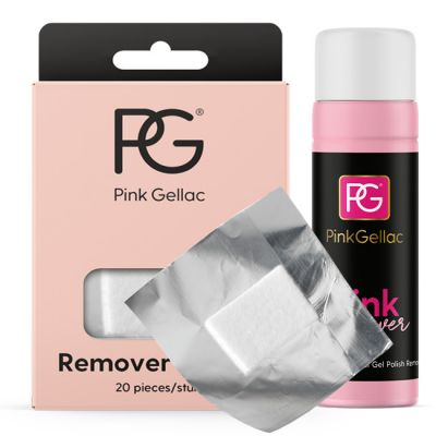 Pink Gellac Pink Remover Set  Uv Lack Remover