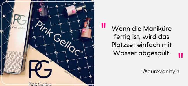 Pink Gellac Review Manicure Placemat