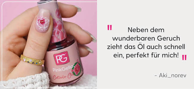 Pink Gellac Review Cuticle Oil Rose