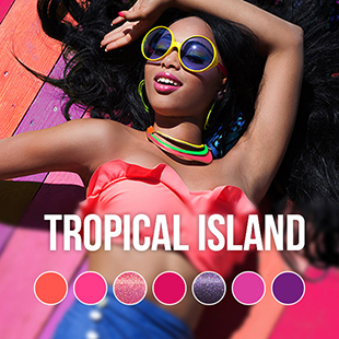 Tropical Island UV Nagellack Farbkollektion