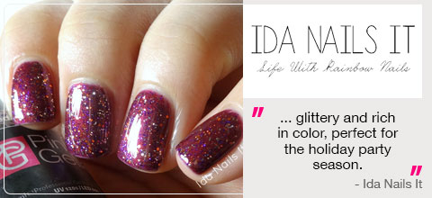 Pink Gellac Disco Glam Collection Review 01