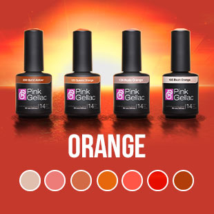 Alle Orange UV Nagellack Farben