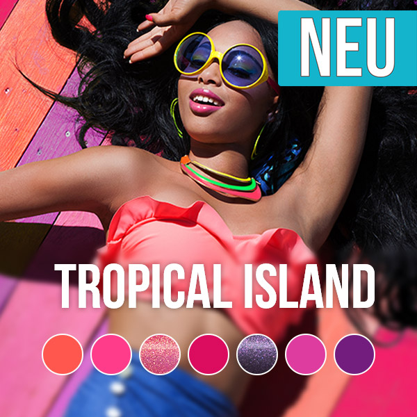 Pink Gellac Tropical Island UV Nagellack Kollektion