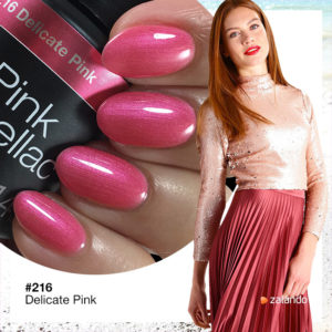 216 Delicate Pink Rosa Nagellack
