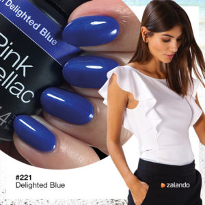 221 Delighted Blue, Dunkle Blauer Nagellack